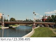 Купить «Александровский мост в городе Орле», фото № 23398495, снято 5 августа 2016 г. (c) Александр Плахов / Фотобанк Лори