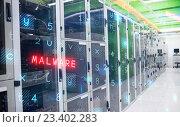 internet network server room with computers racks. Стоковое фото, агентство Wavebreak Media / Фотобанк Лори