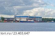 Купить «Невский судостроительно-судоремонтный завод», фото № 23403647, снято 11 августа 2016 г. (c) Алина Сбитнева / Фотобанк Лори