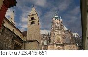 Собор Святого Вита (католический собор) в Праге, Чешская Республика (2016 год). Стоковое видео, видеограф Владимир Журавлев / Фотобанк Лори