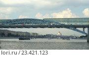 Пушкинский мост. Таймлапс. Стоковое видео, видеограф Виктор Тараканов / Фотобанк Лори