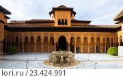 Купить «ourtyard of the Lions(Patio de los Leones)in day time. Alhambra», фото № 23424991, снято 13 мая 2016 г. (c) Яков Филимонов / Фотобанк Лори
