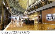 Купить «Покупатели в торговом центре азиатского города», видеоролик № 23427675, снято 25 октября 2014 г. (c) Elnur / Фотобанк Лори