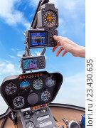 Купить «Панель приборов вертолета», фото № 23430635, снято 6 июня 2016 г. (c) Евгений Ткачёв / Фотобанк Лори
