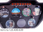 Панель приборов вертолета, фото № 23430639, снято 6 июня 2016 г. (c) Евгений Ткачёв / Фотобанк Лори