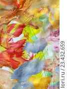 Купить «Абстрактный рисунок, гуашь», фото № 23432659, снято 23 августа 2016 г. (c) Виктор Топорков / Фотобанк Лори