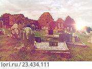 Купить «old celtic cemetery graveyard in ireland», фото № 23434111, снято 24 июня 2016 г. (c) Syda Productions / Фотобанк Лори