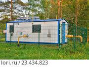 Купить «Газораспределительная станция с солнечной батареей за забором», фото № 23434823, снято 22 мая 2016 г. (c) Максим Мицун / Фотобанк Лори
