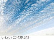 Купить «White clouds in blue sky.», фото № 23439243, снято 25 мая 2016 г. (c) Юрий Брыкайло / Фотобанк Лори