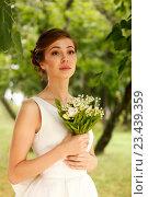 Купить «Красивая невеста», фото № 23439359, снято 7 июля 2016 г. (c) Морозова Татьяна / Фотобанк Лори