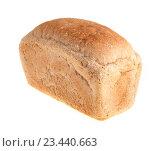 Купить «Буханка белого хлеба, изолированно на белом фоне», фото № 23440663, снято 7 августа 2016 г. (c) Литвяк Игорь / Фотобанк Лори
