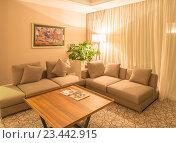 Купить «Modern interior of dining room», фото № 23442915, снято 19 июня 2015 г. (c) Elnur / Фотобанк Лори