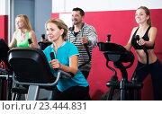 Active adults in gym. Стоковое фото, фотограф Яков Филимонов / Фотобанк Лори