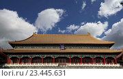 Купить «Запретный город, Пекин, Китай», видеоролик № 23445631, снято 29 августа 2016 г. (c) Владимир Журавлев / Фотобанк Лори