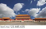 Купить «Запретный город, Пекин, Китай», видеоролик № 23445635, снято 29 августа 2016 г. (c) Владимир Журавлев / Фотобанк Лори