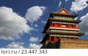 Купить «Ворота Цяньмэнь на юге площади Тяньаньмэнь в Пекине, Китай», видеоролик № 23447343, снято 29 августа 2016 г. (c) Владимир Журавлев / Фотобанк Лори
