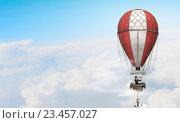 Купить «Woman traveling in aerostat . Mixed media», фото № 23457027, снято 26 мая 2019 г. (c) Sergey Nivens / Фотобанк Лори