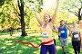happy young female runner winning on race finish, фото № 23460799, снято 16 августа 2015 г. (c) Syda Productions / Фотобанк Лори