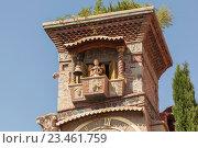 Купить «Марионетка на часовой башне. Театр Рено Габриадзе, Тбилиси, Грузия», эксклюзивное фото № 23461759, снято 14 июня 2016 г. (c) Gagara / Фотобанк Лори