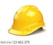 Купить «Yellow hard hat, safety helmet isolated on white», фото № 23462375, снято 17 июня 2019 г. (c) Maksym Yemelyanov / Фотобанк Лори