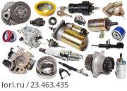 Купить «car repair parts isolated», фото № 23463435, снято 17 октября 2018 г. (c) Яков Филимонов / Фотобанк Лори