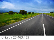 Купить «landscpae with road and heavy clouds», фото № 23463455, снято 12 мая 2016 г. (c) Яков Филимонов / Фотобанк Лори