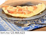 Купить «Завтрак. Омлет с тыквой», эксклюзивное фото № 23466623, снято 3 сентября 2016 г. (c) Яна Королёва / Фотобанк Лори