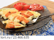 Купить «Омлет с тыквой и помидорами», эксклюзивное фото № 23466635, снято 3 сентября 2016 г. (c) Яна Королёва / Фотобанк Лори