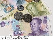 Купить «Китайский юань», эксклюзивное фото № 23468027, снято 3 сентября 2016 г. (c) Яна Королёва / Фотобанк Лори