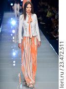 Купить «MILAN, ITALY - SEPTEMBER 27: A model walks the runway during the John Richmond fashion show as part of Milan Fashion Week Spring/Summer 2016 on September 27, 2015 in Milan, Italy.», фото № 23472511, снято 27 сентября 2015 г. (c) Anton Oparin / Фотобанк Лори