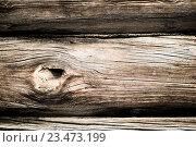 Фрагмент сруба деревенского дома. Стоковое фото, фотограф Константин Пекарь / Фотобанк Лори