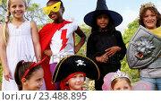 Купить «Group of kids in various costumes», видеоролик № 23488895, снято 16 июля 2019 г. (c) Wavebreak Media / Фотобанк Лори