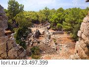 Руины античного города Фазелис. Национальный парк Олимпос, Турция, фото № 23497399, снято 29 марта 2017 г. (c) OSHI / Фотобанк Лори