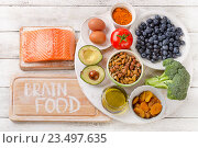 Foods to boost brainpower. Стоковое фото, фотограф Tatjana Baibakova / Фотобанк Лори