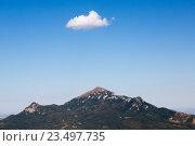 Купить «Вид на гору Бештау с горы Машук (Пятигорск)», фото № 23497735, снято 7 сентября 2016 г. (c) Валерий Шилов / Фотобанк Лори