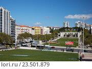 Купить «Lisbon, Portugal, Alameda Afonso Henriques in Avenidas Novas Area», фото № 23501879, снято 5 апреля 2016 г. (c) Caro Photoagency / Фотобанк Лори