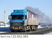 Купить «MAZ 5440», фото № 23503383, снято 21 марта 2013 г. (c) Art Konovalov / Фотобанк Лори