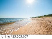 Станица Голубицкая. Вид на пляж. Стоковое фото, фотограф Виталий Куликов / Фотобанк Лори