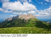 Гора Большой Тхач на Кавказе. Стоковое фото, фотограф Анатолий Типляшин / Фотобанк Лори