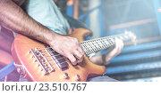Купить «Мужчина играет на гитаре, крупный план», фото № 23510767, снято 20 августа 2014 г. (c) ouh_desire / Фотобанк Лори