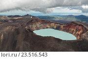Купить «Малый Семячик — вулкан с кислотным кратерным озером. Кроноцкий заповедник на Камчатском полуострове.», фото № 23516543, снято 12 августа 2016 г. (c) Юлия Машкова / Фотобанк Лори