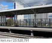 Пассажирские платформы станции «Измайлово» Московского центрального кольца (МЦК) (2016 год). Редакционное фото, фотограф lana1501 / Фотобанк Лори