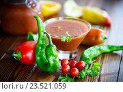 Купить «Аджика из свежих овощей», фото № 23521059, снято 13 сентября 2016 г. (c) Peredniankina / Фотобанк Лори