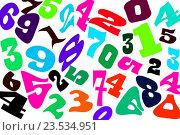 Купить «Цифры разных шрифтов на белом фоне», иллюстрация № 23534951 (c) Сергеев Валерий / Фотобанк Лори