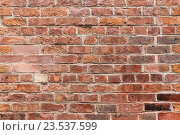 Купить «close up of red brick wall background», фото № 23537599, снято 27 июня 2016 г. (c) Syda Productions / Фотобанк Лори