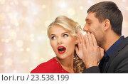 man and woman spreading gossip. Стоковое фото, фотограф Syda Productions / Фотобанк Лори