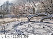 Зимняя река. Стоковое фото, фотограф Дмитрий Голуб / Фотобанк Лори