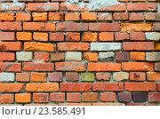 Старая стена из красного кирпича. Стоковое фото, фотограф Ольга Коцюба / Фотобанк Лори
