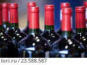 Купить «Close-up of wine bottles», фото № 23588587, снято 9 мая 2016 г. (c) Wavebreak Media / Фотобанк Лори