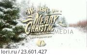 Купить «Illustration of christmas greeting and new year message», видеоролик № 23601427, снято 22 мая 2019 г. (c) Wavebreak Media / Фотобанк Лори